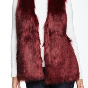 Romeo and Juliet Couture Vest Jacket - Burgundy